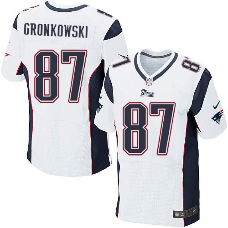 Rob Gronkowski, New England Patriots - White
